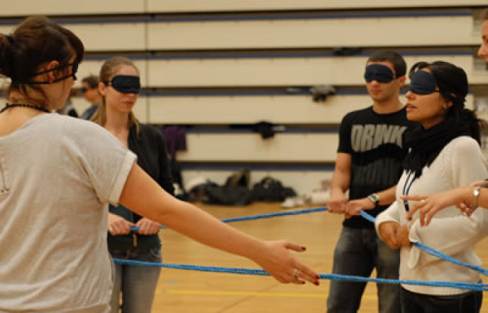 Blind Shape Group Team Building Game