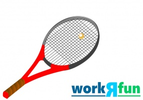 What A Racquet Game from the Minute to Win It Game Show