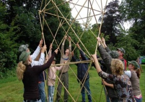 Bamboo Structure building activity
